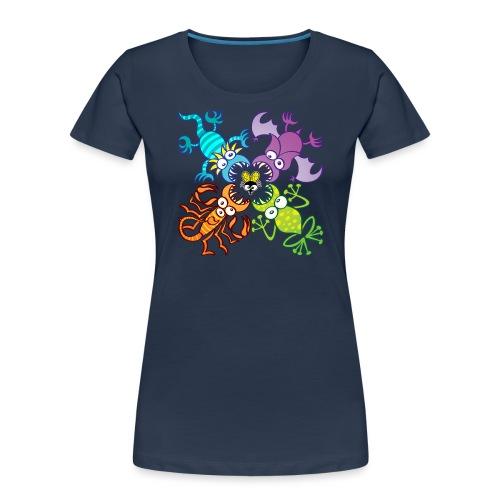 Bat, lizard, scorpion and frog stalking a poor fly - Women's Premium Organic T-Shirt