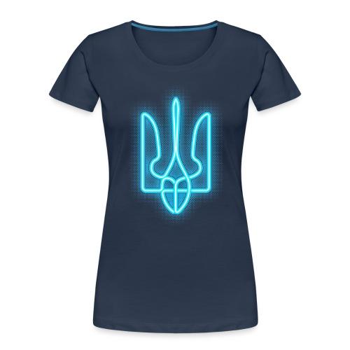 neon tryzub blue - Women's Premium Organic T-Shirt