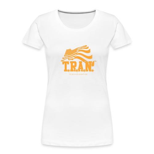 TRAN Gold Club - Women's Premium Organic T-Shirt
