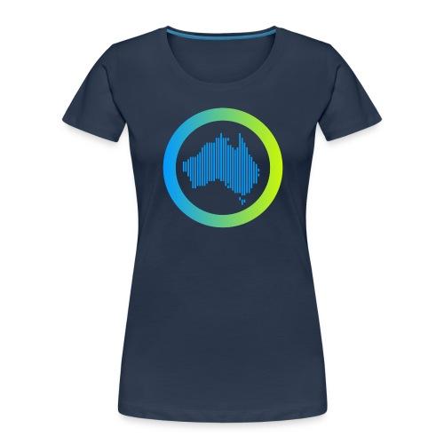 Gradient Symbol Only - Women's Premium Organic T-Shirt