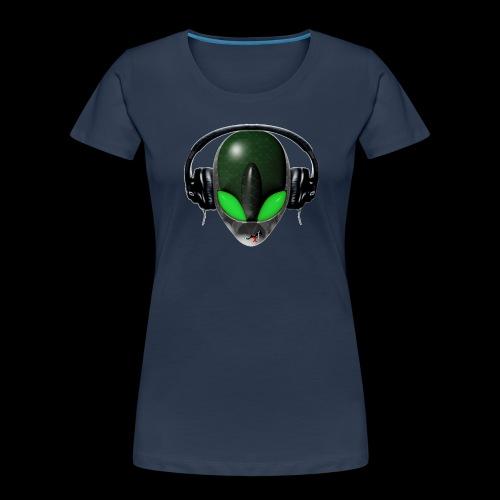 Reptoid Green Alien Face DJ Music Lover - Friendly - Women's Premium Organic T-Shirt