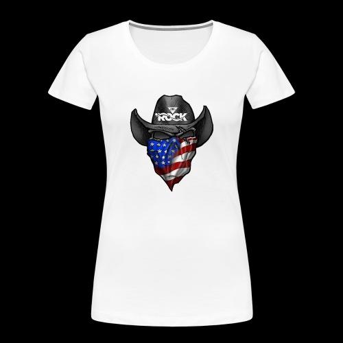 Eye rock cowboy Design - Women's Premium Organic T-Shirt