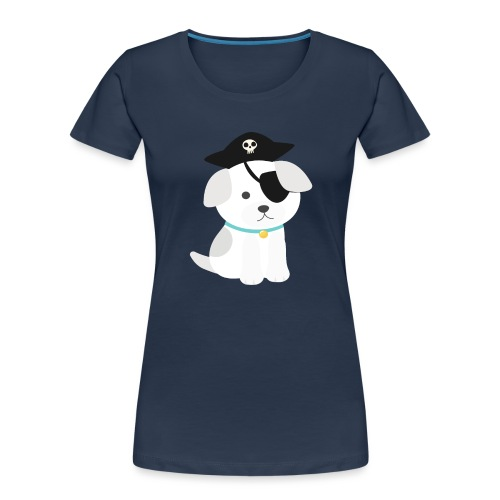 Dog with a pirate eye patch doing Vision Therapy! - Women's Premium Organic T-Shirt