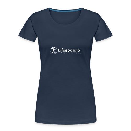 Lifespan.io in white 2021 - Women's Premium Organic T-Shirt