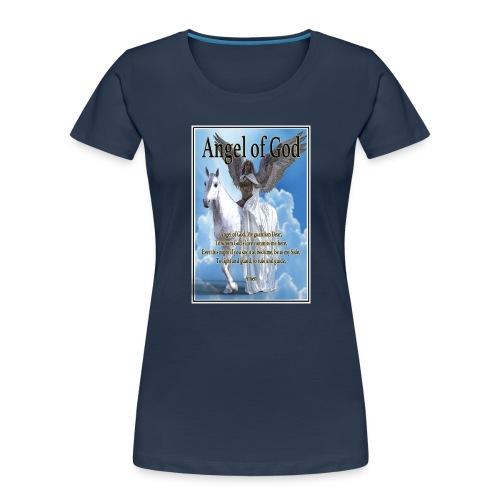 Angel of God, My guardian Dear (version with sky) - Women's Premium Organic T-Shirt