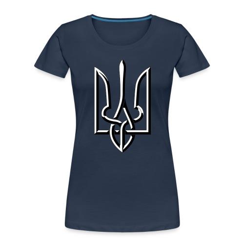 Black and White Trident - Women's Premium Organic T-Shirt