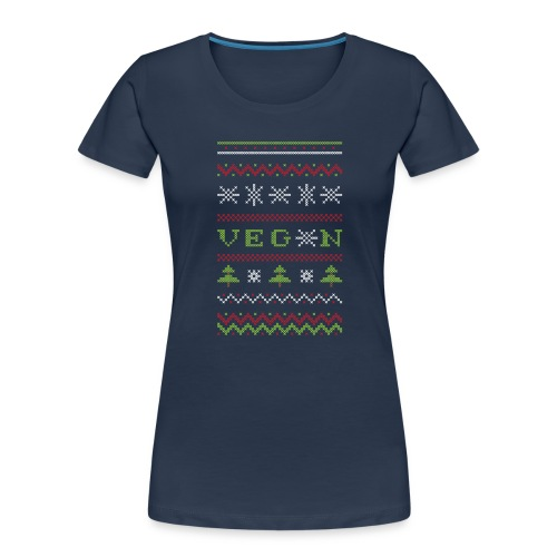 Veg*n Ugly Sweater Women's Wideneck Sweatshirt - Women's Premium Organic T-Shirt