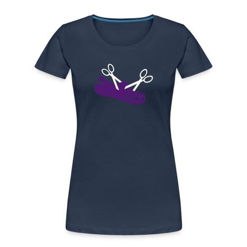 I Hate Crocs Scissor Design - Women's Premium Organic T-Shirt