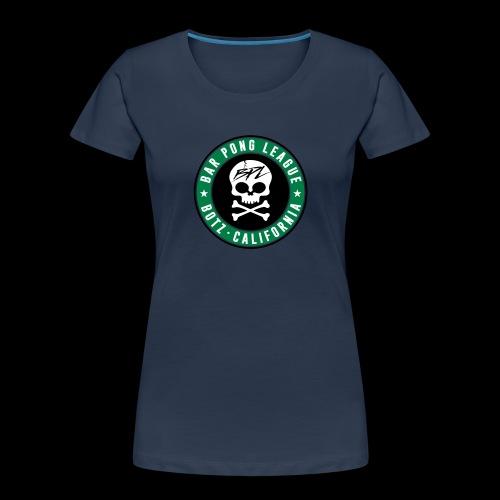 Bar Pong Badge Logo - Women's Premium Organic T-Shirt