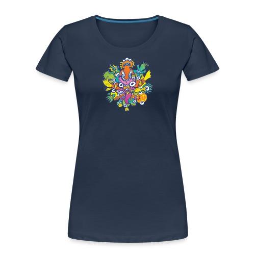 Don't let this evil monster gobble our friend - Women's Premium Organic T-Shirt