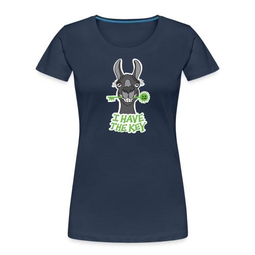 Proud black llama has the key against coronavirus - Women's Premium Organic T-Shirt