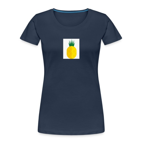 Pixel looking Pineapple - Women's Premium Organic T-Shirt