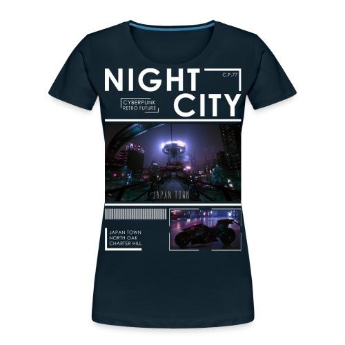 Night City Japan Town - Women's Premium Organic T-Shirt