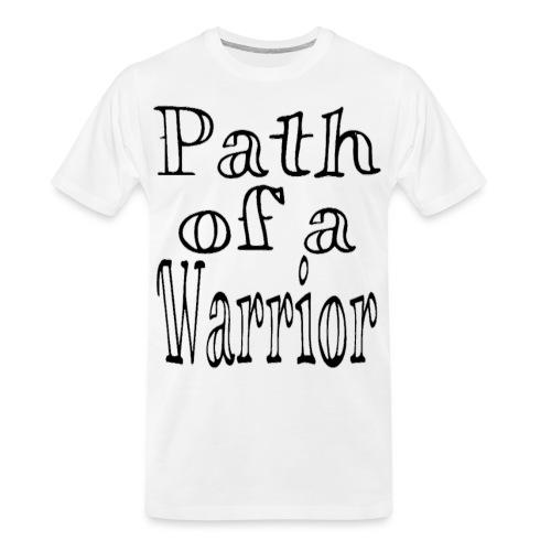 Path of a Warrior (White) - Men's Premium Organic T-Shirt