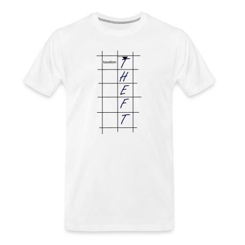 Taxation is Theft Crossword - Men's Premium Organic T-Shirt
