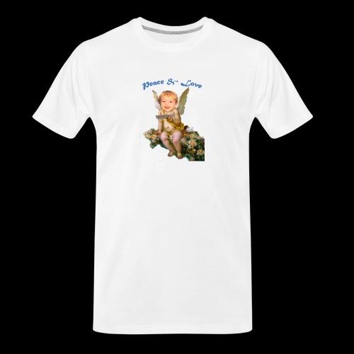 Peace and Love - Men's Premium Organic T-Shirt