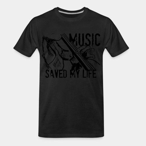 music is live - Men's Premium Organic T-Shirt