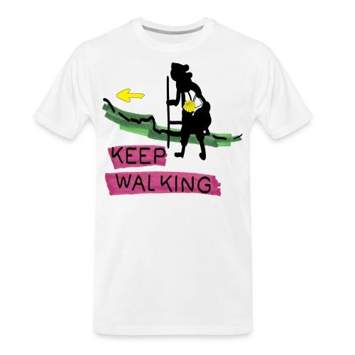 Keep walking buen camino sc t ss - Men's Premium Organic T-Shirt