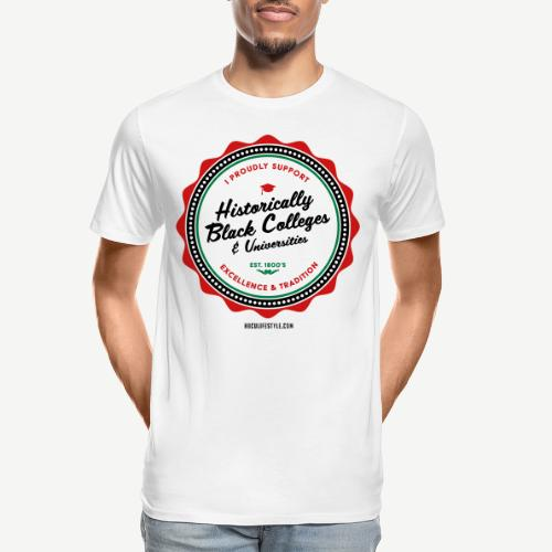 I Proudly Support HBCUs - Men's Red, Black, Green - Men's Premium Organic T-Shirt