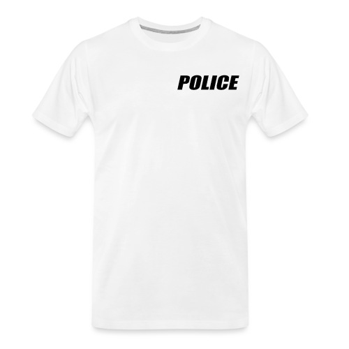 Police Black - Men's Premium Organic T-Shirt