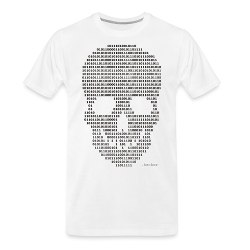 Hacker binary - Mens - Men's Premium Organic T-Shirt