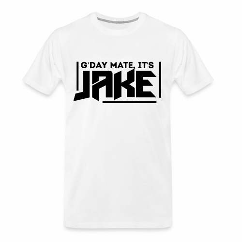 G'Day Mate It's Jake Black Logo - Men's Premium Organic T-Shirt