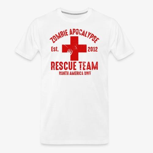 Zombie Rescue Halloween Shirt - Men's Premium Organic T-Shirt