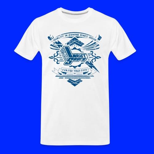 Vintage Leet Sauce Studios Crest Blue - Men's Premium Organic T-Shirt