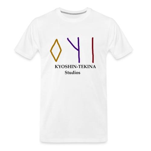 Kyoshin-Tekina Studios logo (black test) - Men's Premium Organic T-Shirt