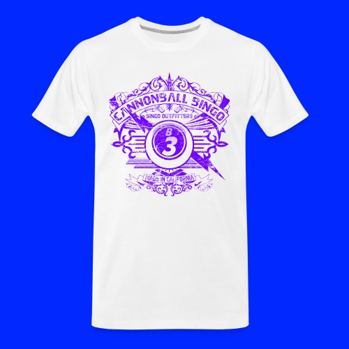 Vintage Cannonball Bingo Crest Purple - Men's Premium Organic T-Shirt