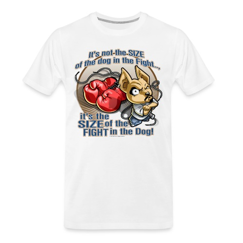 Dog in fight by RollinLow - Men's Premium Organic T-Shirt