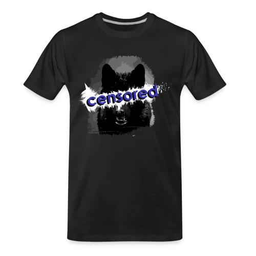 Wolf censored - Men's Premium Organic T-Shirt