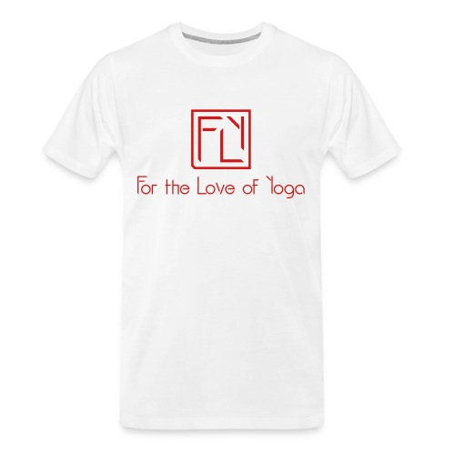 For the Love of Yoga - Men's Premium Organic T-Shirt