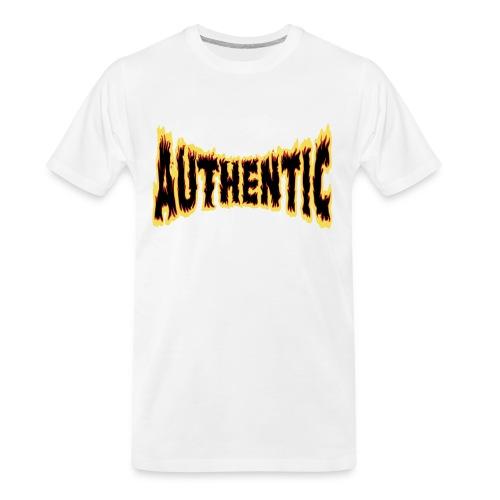 authentic on fire - Men's Premium Organic T-Shirt