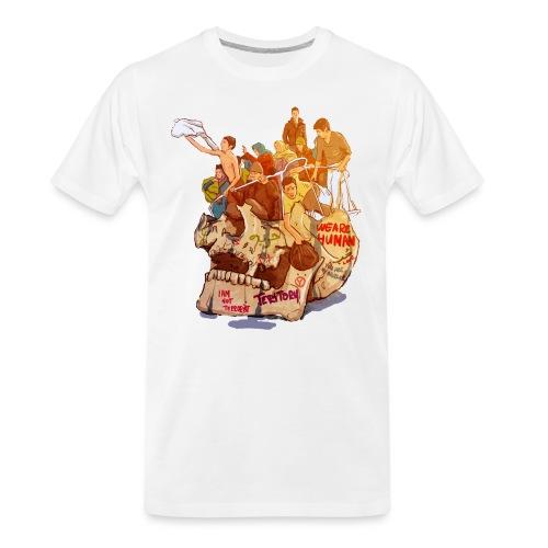 Skull & Refugees - Men's Premium Organic T-Shirt