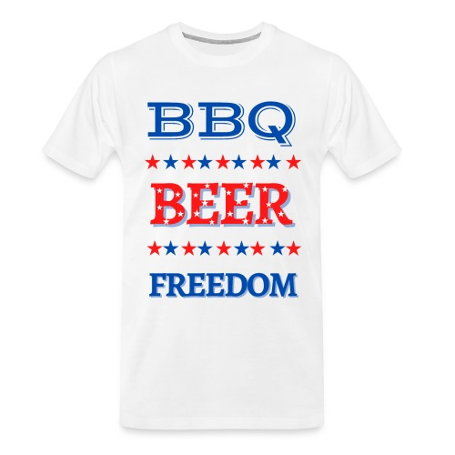 BBQ BEER FREEDOM - Men's Premium Organic T-Shirt