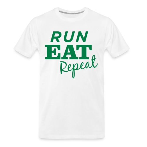 Run Eat Repeat buttons medium - Men's Premium Organic T-Shirt