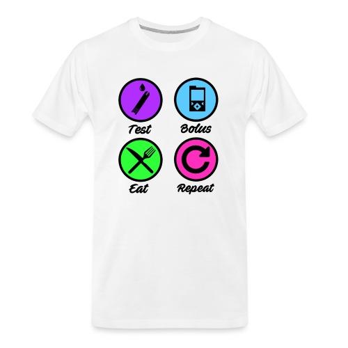 Test Bolus Eat Repeat - Men's Premium Organic T-Shirt