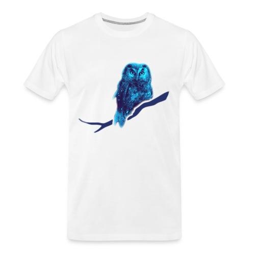 owl bird fowl blue - Men's Premium Organic T-Shirt