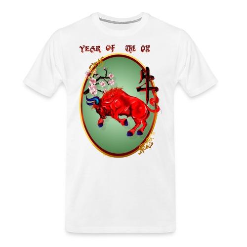 The Red Ox Oval - Men's Premium Organic T-Shirt