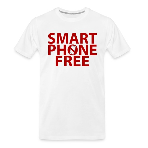 SMART PHONE FREE - Men's Premium Organic T-Shirt