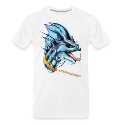 Dragon and Gold Chain - Men's Premium Organic T-Shirt