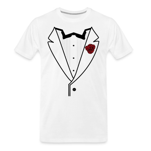 Tuxedo w/Black Lined Lapel - Men's Premium Organic T-Shirt