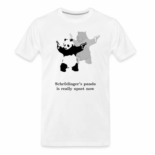 Schrödinger's panda is really upset now - Men's Premium Organic T-Shirt