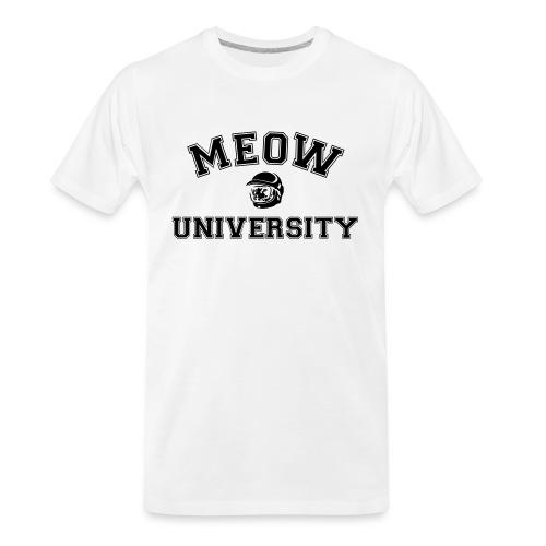 meow university - Men's Premium Organic T-Shirt