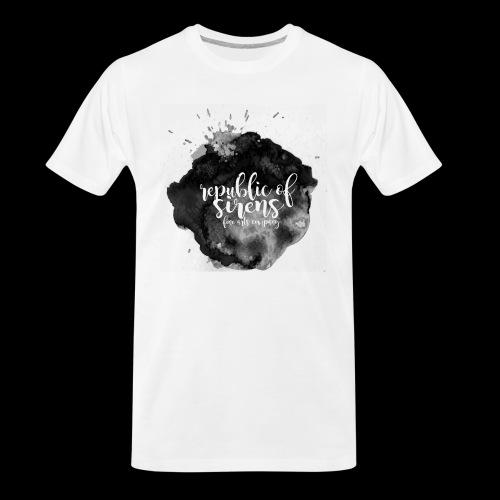 ROS FINE ARTS COMPANY - Black Aqua - Men's Premium Organic T-Shirt
