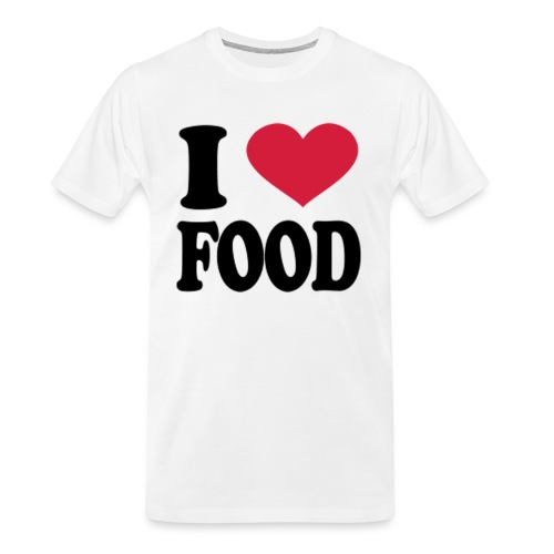 i love food - Men's Premium Organic T-Shirt