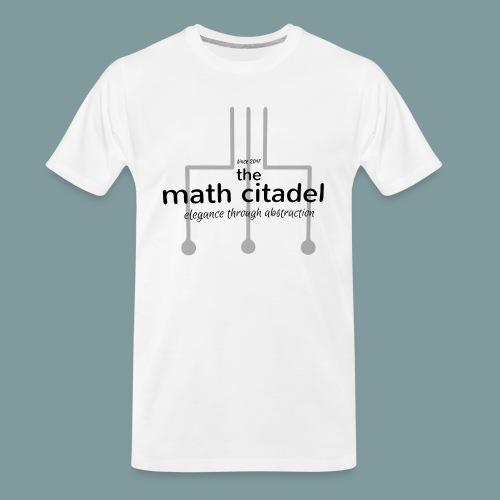 Abstract Math Citadel - Men's Premium Organic T-Shirt