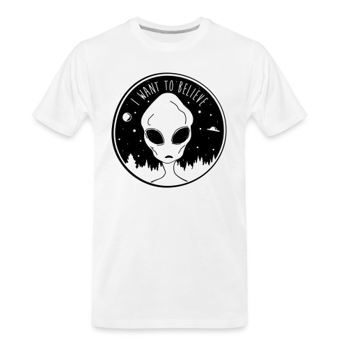 I Want To Believe - Men's Premium Organic T-Shirt
