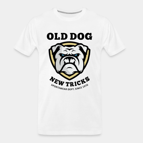 old dog new tricks - Men's Premium Organic T-Shirt